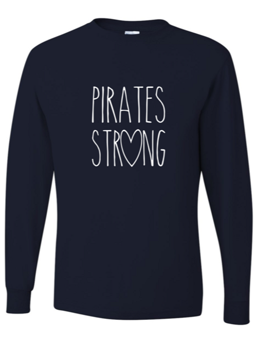 """""""Pirates Strong"""" Youth Long Sleeve Tee"""