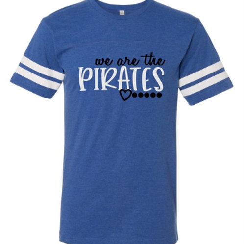"""""""We Are the Pirates"""" Toddler Football Jersey Tee"""