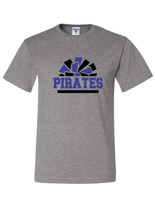 """Pirates Pom Pom"" Youth Short Sleeve Tee"