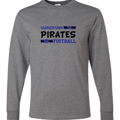 """Charlestown Pirates Football"" Long Sleeve Tee"
