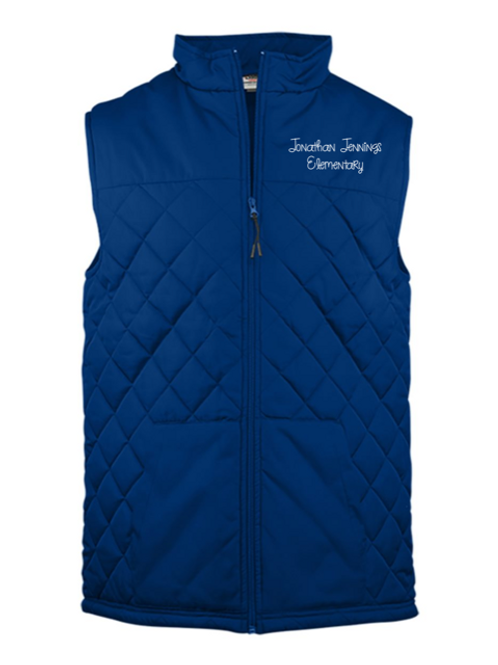 Jonathan Jennings Elementary Adult Embroidered Vest