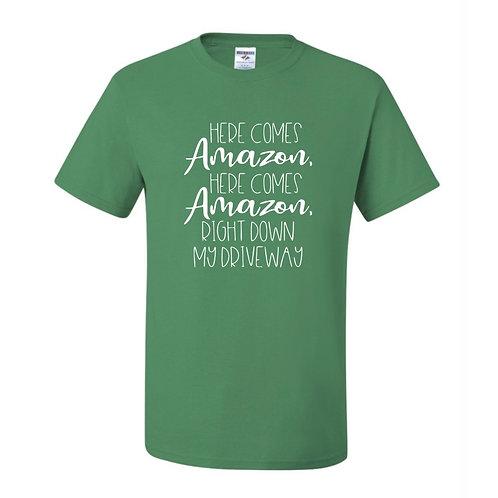 """Here Comes Amazon"" Adult Short Sleeve Tee"
