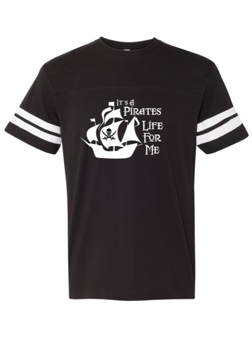 """Pirates Life"" Adult Football Jersey Tee"