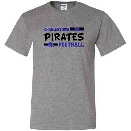 """Charlestown Pirates Football"" Short Sleeve Tee"