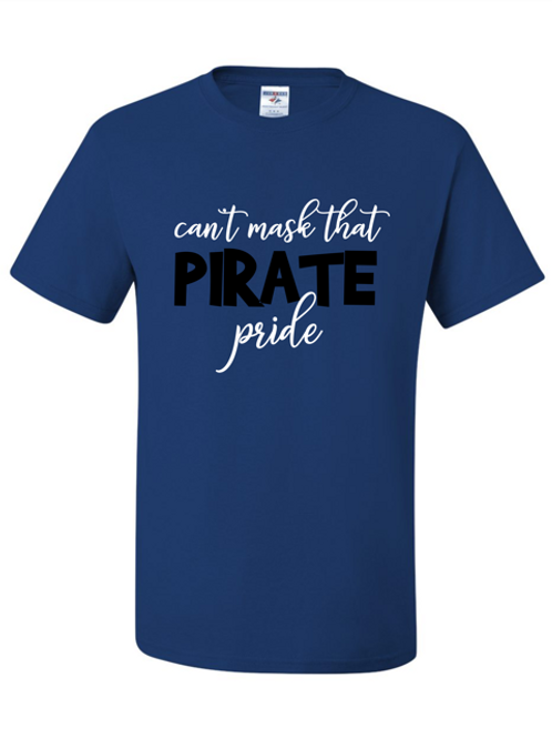 """""""Can't Mask Pirate Pride"""" Youth Short Sleeve Tee"""