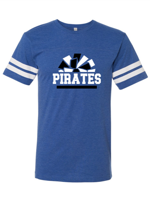 """Pirates Pom Pom"" Youth Football Jersey Tee"
