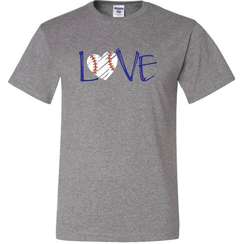 """Baseball Heart"" Short Sleeve Tee"