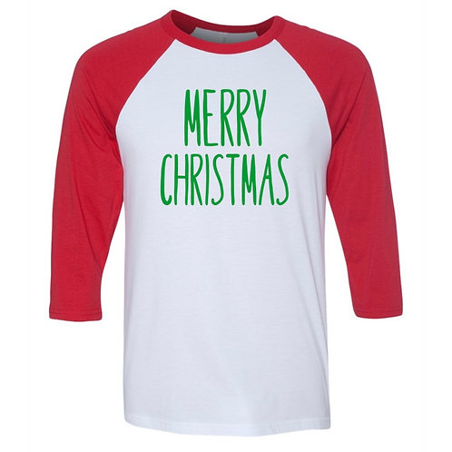 """Merry Christmas"" Youth Baseball Tee"