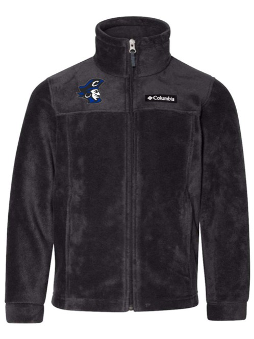 Blue Pirate Head Adult Columbia Fleece Jacket