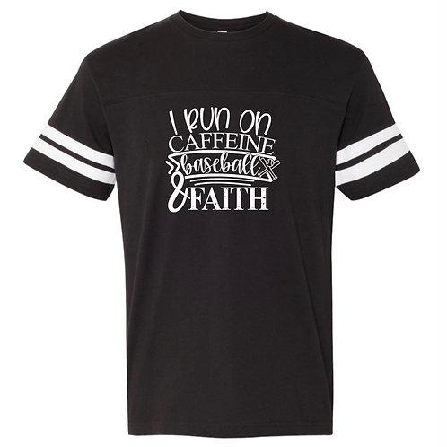 """Men's """"Run On Caffeine"""" Jersey Tee"""