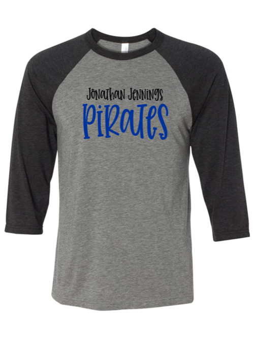"""J.J. Pirates"" Adult Baseball Tee"