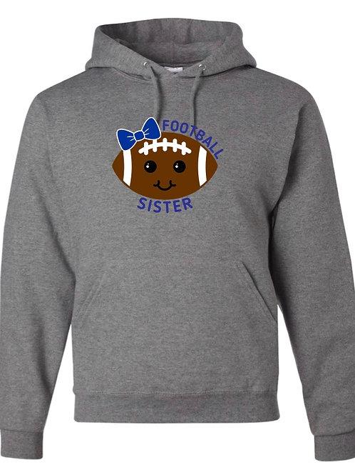 """Football Sister"" Hooded Sweatshirt"
