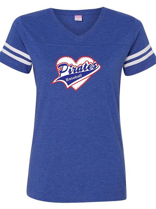 "Women's ""Pirates Baseball"" Jersey Tee"