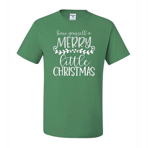 """Merry Little Christmas"" Adult Short Sleeve Tee"