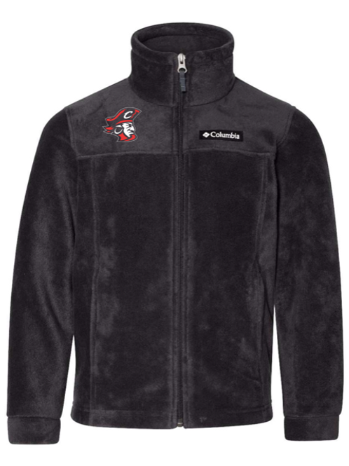Red Pirate Head Youth Columbia Fleece Jacket