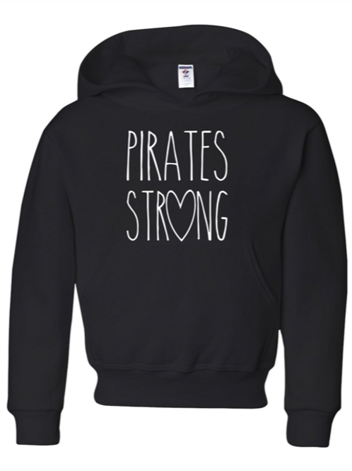 """Pirates Strong"" Adult Hooded Sweatshirt"