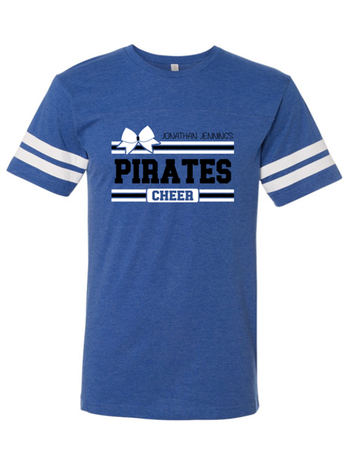 """""""Pirates Cheer"""" Youth Football Jersey Tee"""