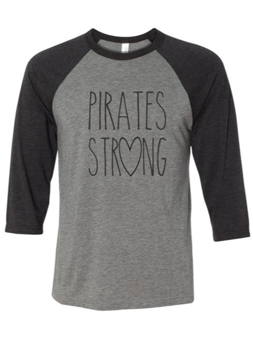 """Pirates Strong"" Youth Baseball Tee"