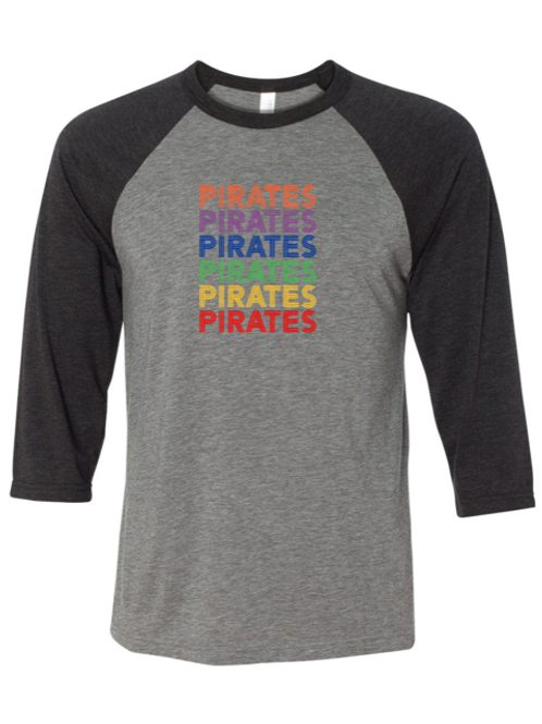"""Pirates"" Repeat Adult Baseball Tee"