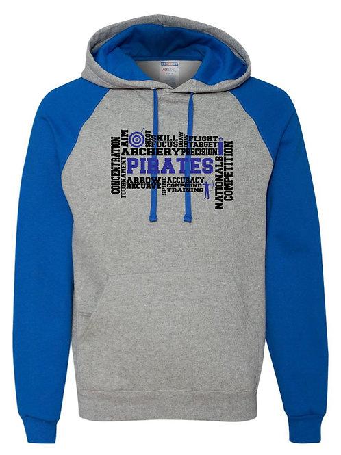 """Archery Words"" Boys Raglan Hooded Sweatshirt"