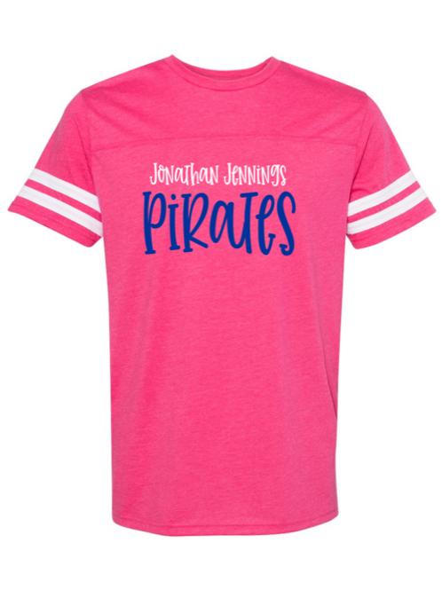 """J.J. Pirates"" Adult Football Jersey Tee"