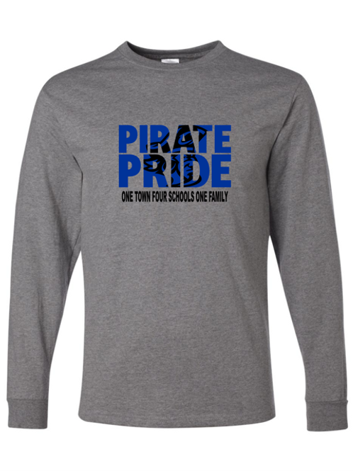 """""""Pirate Pride"""" Adult Long Sleeve Tee"""