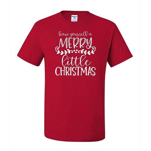 """Merry Little Christmas"" Youth Short Sleeve Tee"