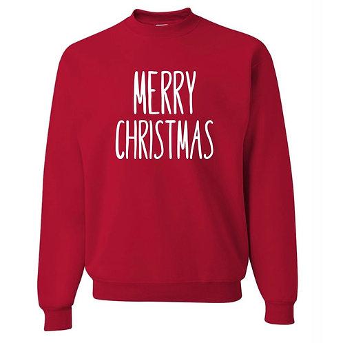 """""""Merry Christmas"""" Crewneck Sweatshirt"""