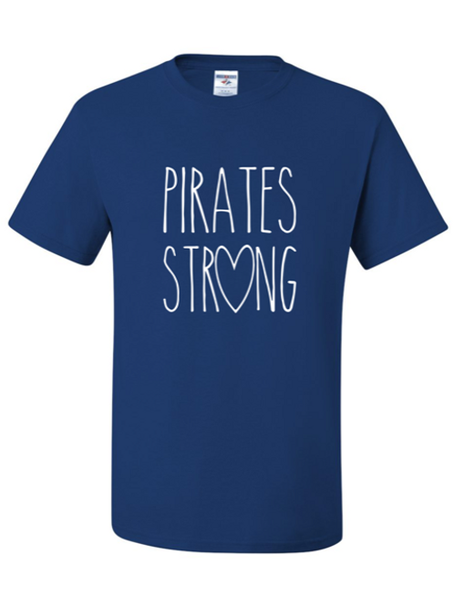 """""""Pirates Strong"""" Adult Short Sleeve Tee"""