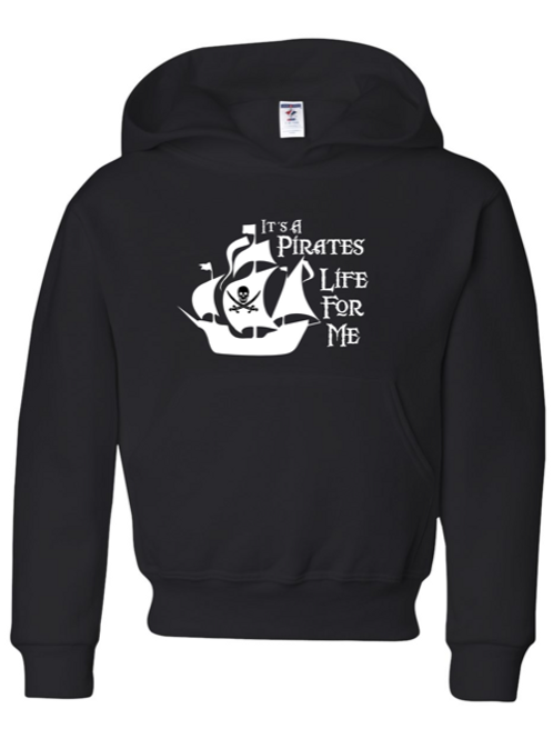 """Pirates Life"" Youth Hooded Sweatshirt"