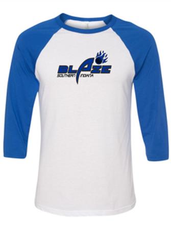 """Blaze"" Adult Baseball Tee"