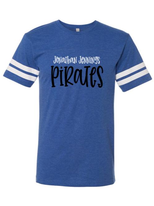 """J.J. Pirates"" Youth Football Jersey Tee"