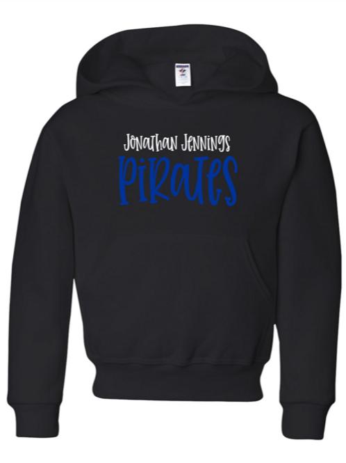 """J.J. Pirates"" Youth Hooded Sweatshirt"