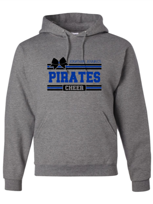 """Pirates Cheer"" Adult Hooded Sweatshirt"
