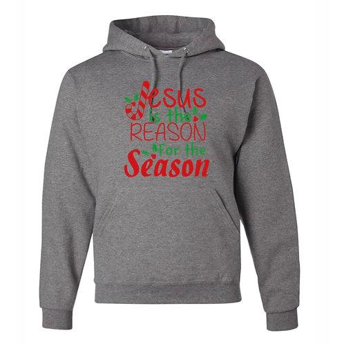 """""""Jesus is the Reason"""" Hooded Sweatshirt"""