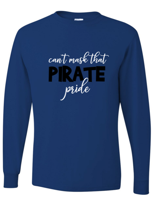 """""""Can't Mask Pirate Pride"""" Adult Long Sleeve Tee"""