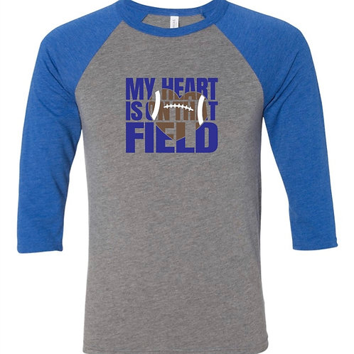 """My Heart is On That Field"" Baseball Tee"