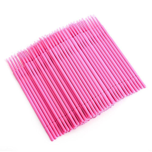 Micro Brushes  - Pink (100 Pack)