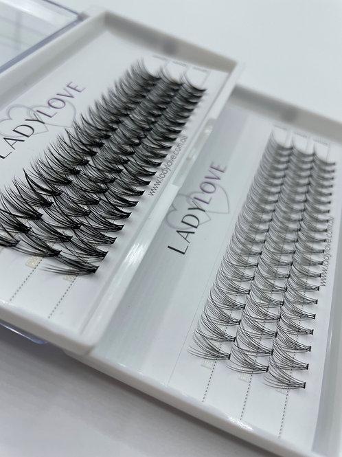 Cluster Eyelash Extensions - Bulk Buy (10)