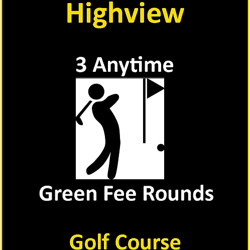 Package of 3 Rounds Of Golf (Anytime) - Tax Incl.