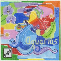 Aquarius Zodiac Square - Z104
