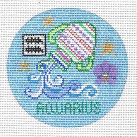 Aquarius Zodiac  Round - ZR104