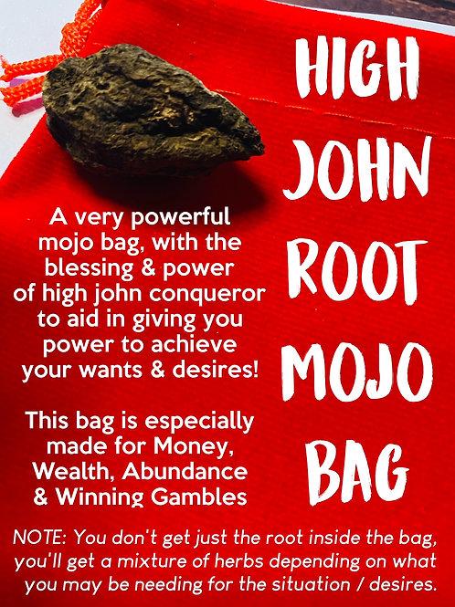 High John Root SUCCESS & MONEY WINNINGS Mojo Bag