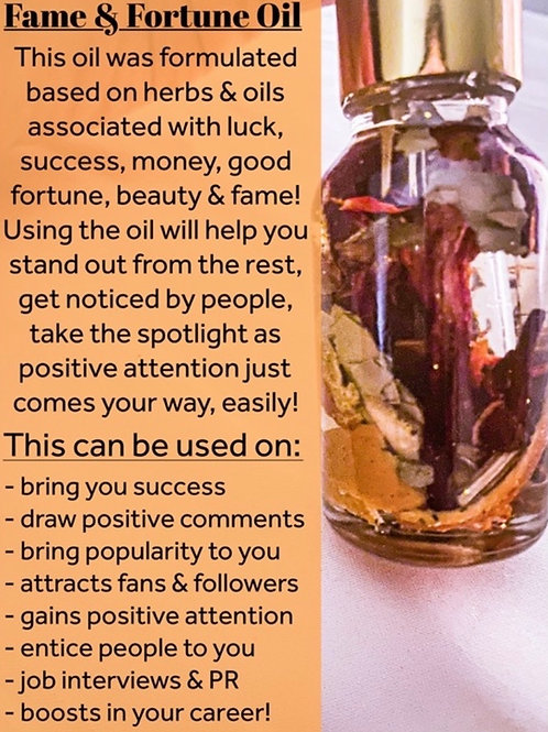 Fame and Fortune Oil