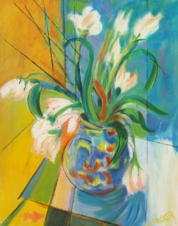 Blue Bureau IX, Tulips