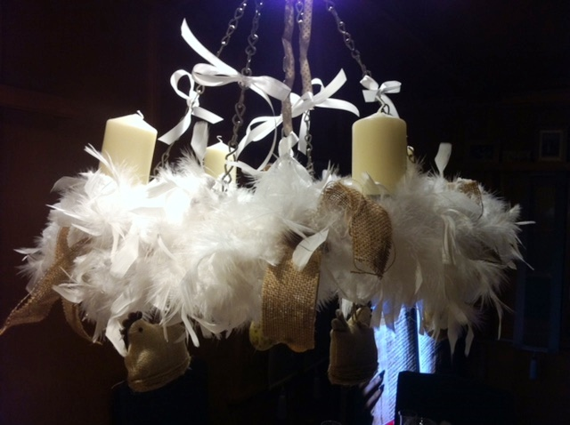 feather chandaliers