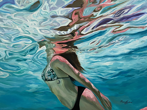 Beneath the Surface (Self-portrait)
