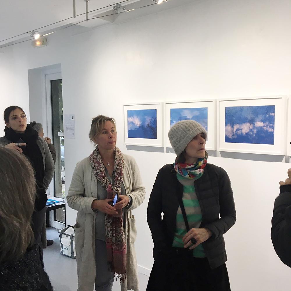 Minna kokko au centre Clara Harbadi au premier plan et Araien crovisier à l'arrière plan fondatrice du collectif ArTen
