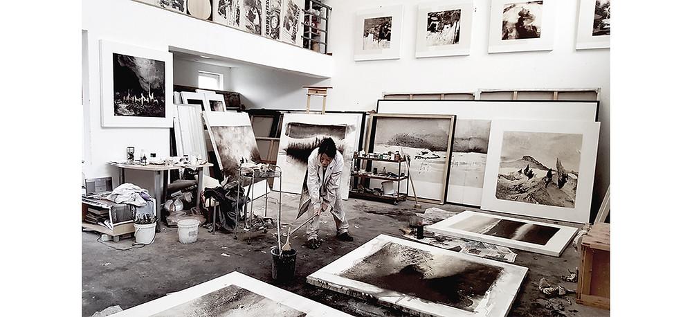 Vue d'atelier de Li Chevalier. Courtesy et photo Li Chevalier