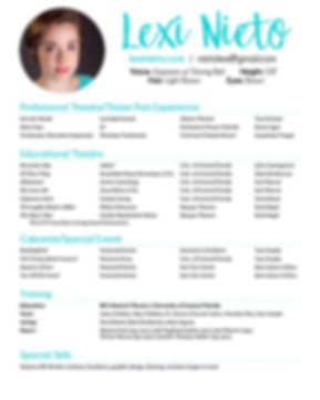 Lexi Nieto Theatre Resume 2020 WEBSITE V